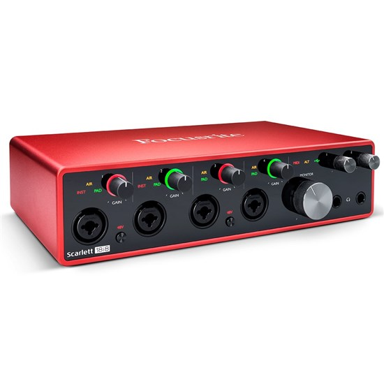 Focusrite Scarlett 18i8 Gen 3 18-in/8-out USB Audio Interface
