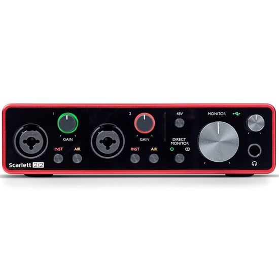 Focusrite Scarlett 2i2 Gen 3 2-in/2-out USB Audio Interface