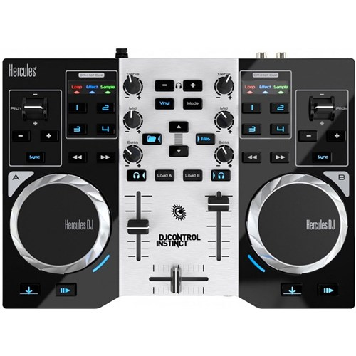 Hercules DJ Control Instinct S Series DJ Controller Pack w/ LED Party Light