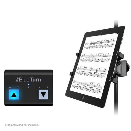IK Multimedia Tablet Page Turner Bundle w/ iRig BlueTurn & iKlip Xpand