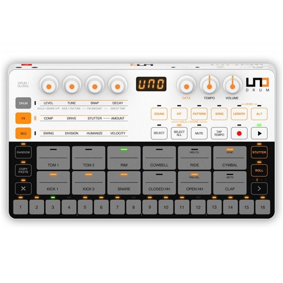 IK Multimedia UNO Drum Analog/PCM Drum Machine (Powered by Sound Machines)
