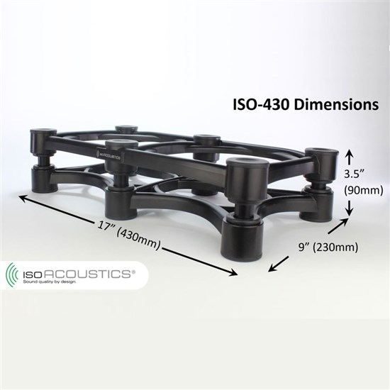 IsoAcoustics ISO 430 Studio Monitor Isolation Stand - Extra Large (Each)