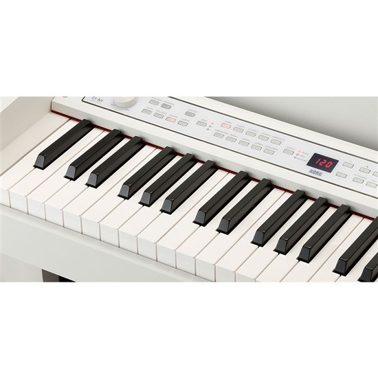 korg c1 air digital piano w rh3 real weighted hammer action keyboard white performance. Black Bedroom Furniture Sets. Home Design Ideas