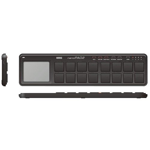 Korg nanoPAD (BLACK) 2nd Gen Portable MIDI Pads