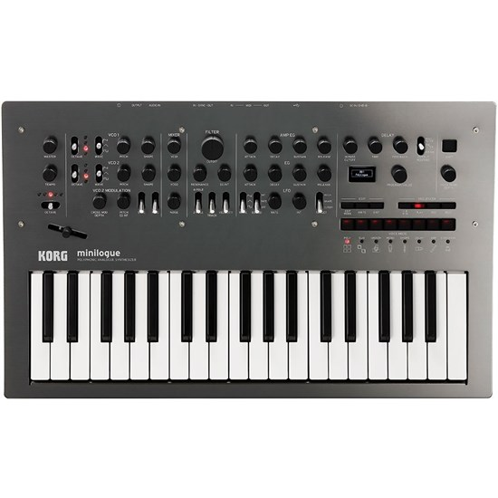 Korg Minilogue (Limited Edition Polished Grey) w/ Bonus Decksaver Cover