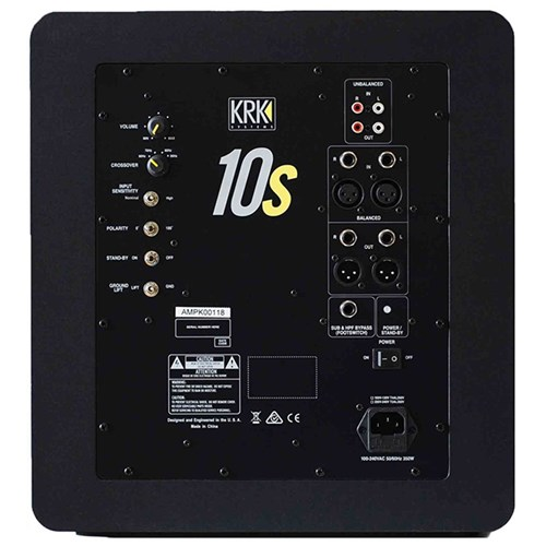 "KRK 10s MK2 10"" Powered Studio Subwoofer"