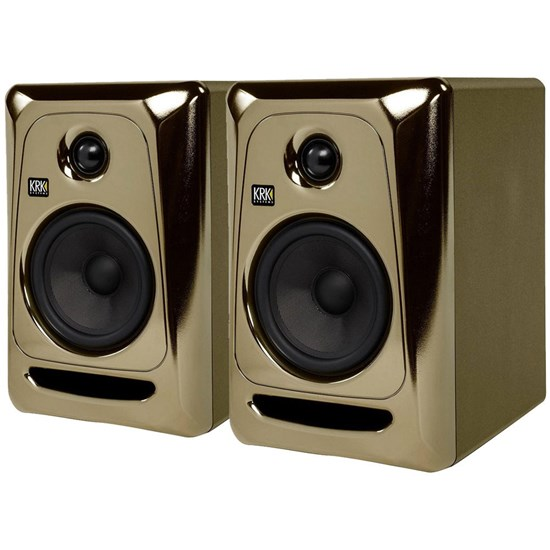 "KRK ROKIT RP5G3 5"" Studio Monitors (Black Gold Pair)"