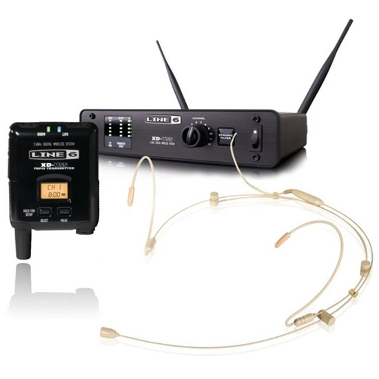 Line 6 XD-V55HS Digital Vocal Wireless Headset System Tan