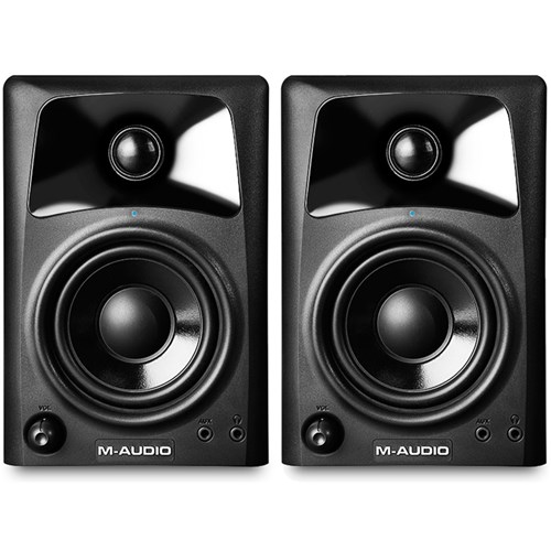 m audio av32 compact desktop speakers for professional media creation pair active studio. Black Bedroom Furniture Sets. Home Design Ideas