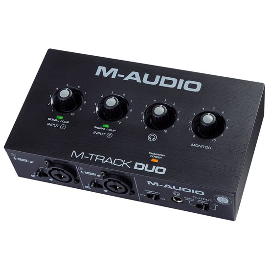 M-Audio M-Track Duo 2-Channel Audio Interface w/ 2 XLR and 1/4-inch Combo Inputs