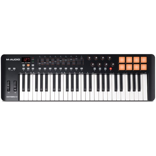 m audio oxygen 49 mk4 usb midi keyboard controller midi keyboards store dj. Black Bedroom Furniture Sets. Home Design Ideas