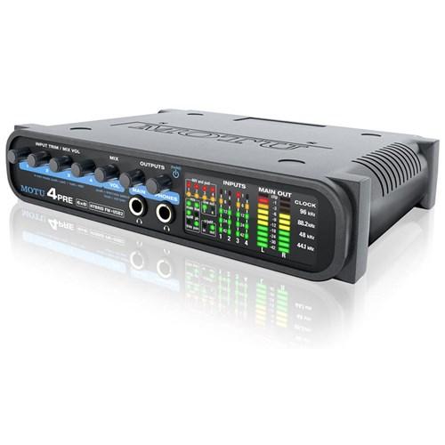 MOTU 4pre Compact 6 x 8 Audio Card w/ 4 Mic Pre-amps