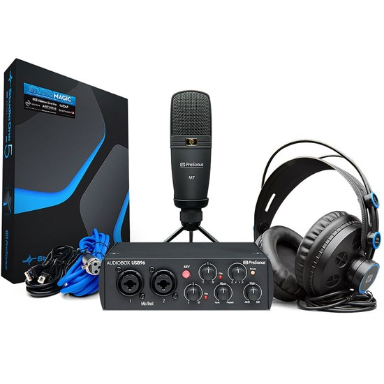 PreSonus AudioBox USB96 Studio Pack  w/ USB Audio Interface Phones & DAW (Black)