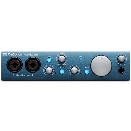 PreSonus AudioBox iTwo USB & iPad Audio/MIDI interface w/ Studio One Artist DAW & Studio