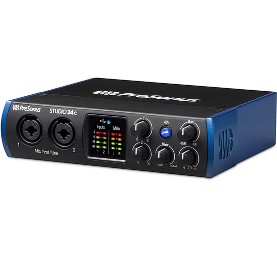 PreSonus Studio 24c 2x2 192kHz USB-C Audio Interface w/ Studio One Artist DAW