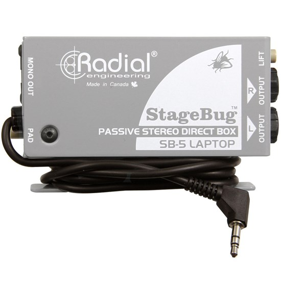 Radial StageBug SB5 Passive Stereo Direct Box for Laptops & Mobile Devices