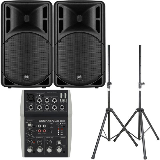 "RCF ART 315-A MK4 15"" Active Two-Way Speaker Pack w/ Mixer & Stands"