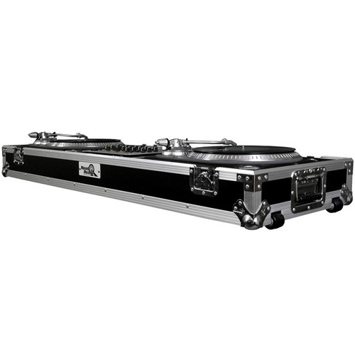 "Road Ready Battlestyle Coffin for 2 Turntables & 12"" Mixer"