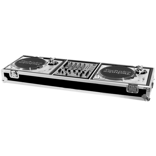 "Road Ready RRDJMW DJ Coffin For 2 Turntables & 12"" Mixer"