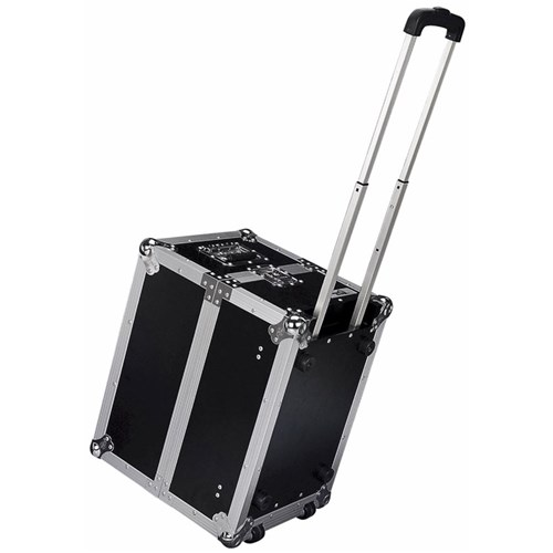 Road Ready RRLPHW 100 LP Case w/ Wheels & Pull Out Handle