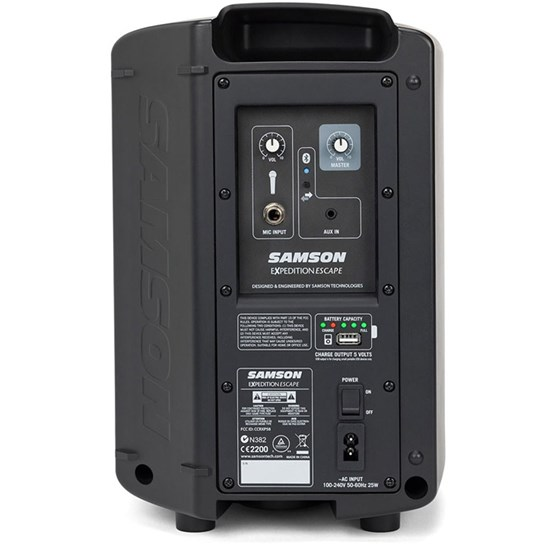 Samson Expedition XP Escape Rechargeable Portable PA w/ Bluetooth