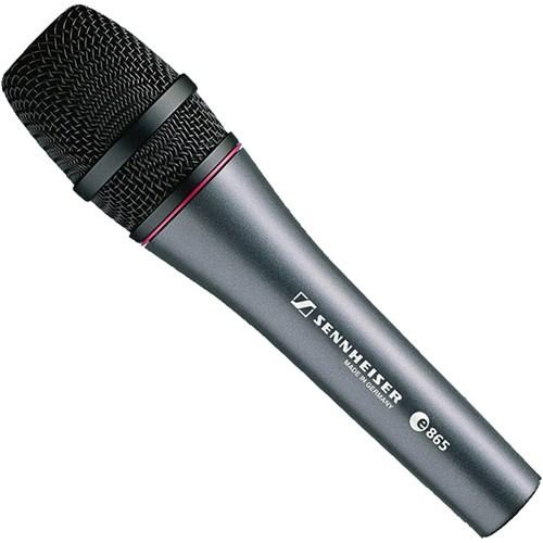 sennheiser e865 super cardioid electret condenser live vocal microphone condenser microphones. Black Bedroom Furniture Sets. Home Design Ideas