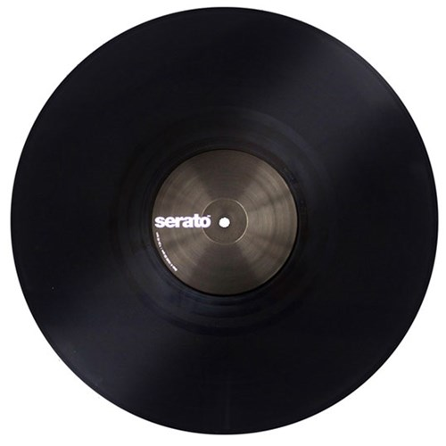 Serato Performance Vinyl Pair Plain Black Timecode
