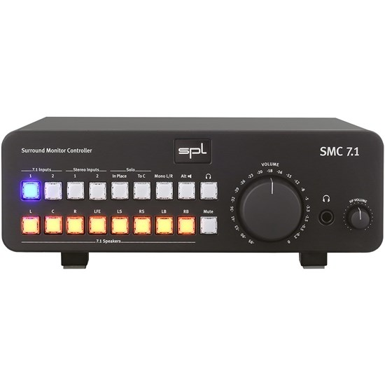 SPL SMC 7.1 Analog Studio Monitor Controller for 7.1 & Stereo Sources (Black)