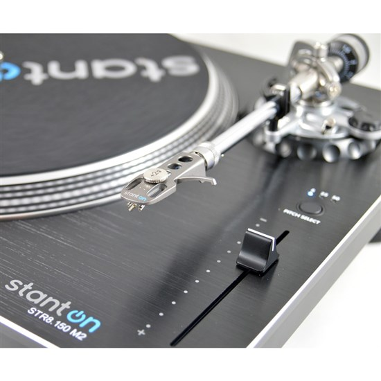 Stanton STR8150M2 Direct-Drive Professional Super High Torque Turntable (Straight Tonearm)