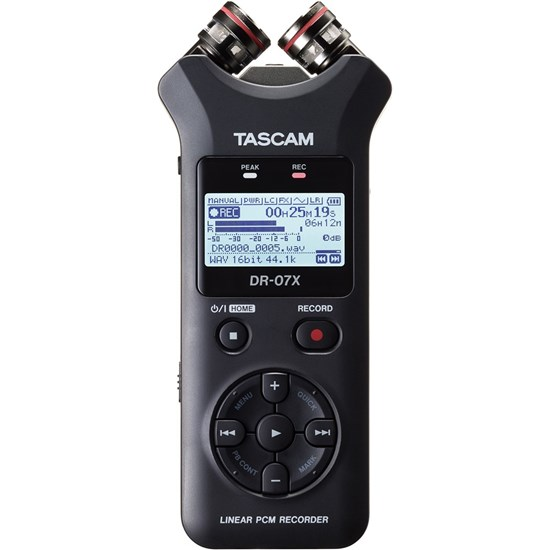 Tascam DR07X Stereo Handheld Digital Audio Recorder & USB Audio Interface