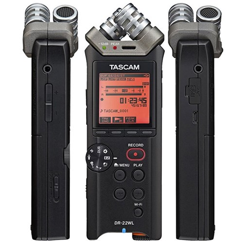 tascam dr 22wl portable handheld recorder w wi fi recorders store dj. Black Bedroom Furniture Sets. Home Design Ideas