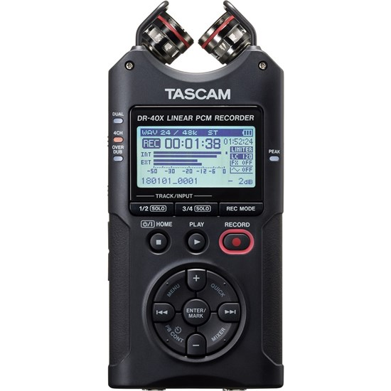 Tascam DR40X Four Track Digital Audio Recorder & USB Audio Interface