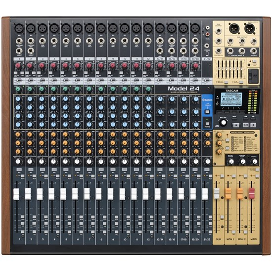 Tascam Model 24 Multitrack Recorder w/ Integrated USB Audio Interface & Analog Mixer