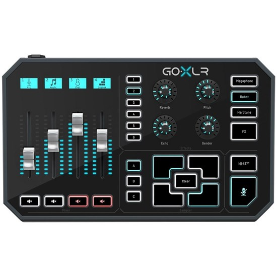 TC Helicon Go XLR 4-Channel Broadcast Mixer w/ Motorized Faders, Sound Board & Vocal FX