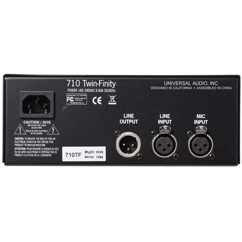 Universal Audio 710 TwinFinity Tube & Solid State Mic Pre/DI