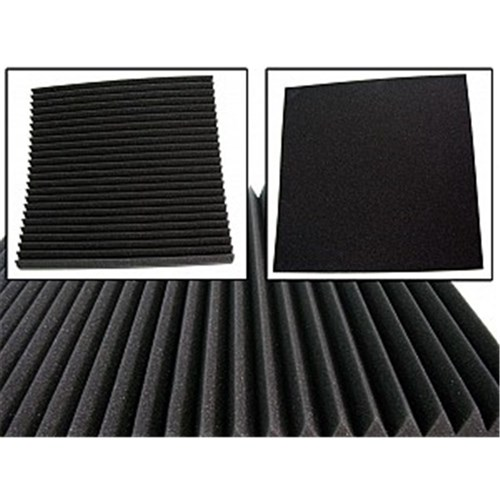 Wave Panels Large Tiles Acoustic Treatment - 600mm x 600mm x 50mm (6 Pack)