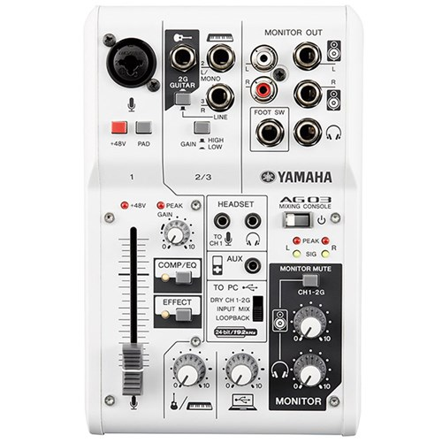 Yamaha AG03 Multipurpose 3-ch Mixer w/ USB Audio Interface