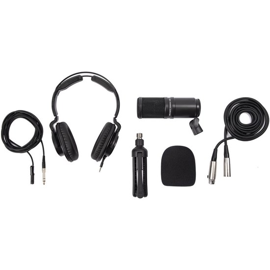 Zoom ZDM1 Podcasting Mic Pack w/ Headphone, Stand, Mic & Cables