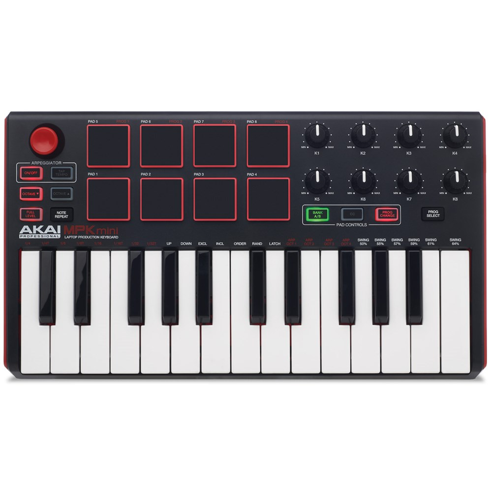 akai mpk mini mkii compact keyboard pad controller midi keyboards store dj. Black Bedroom Furniture Sets. Home Design Ideas