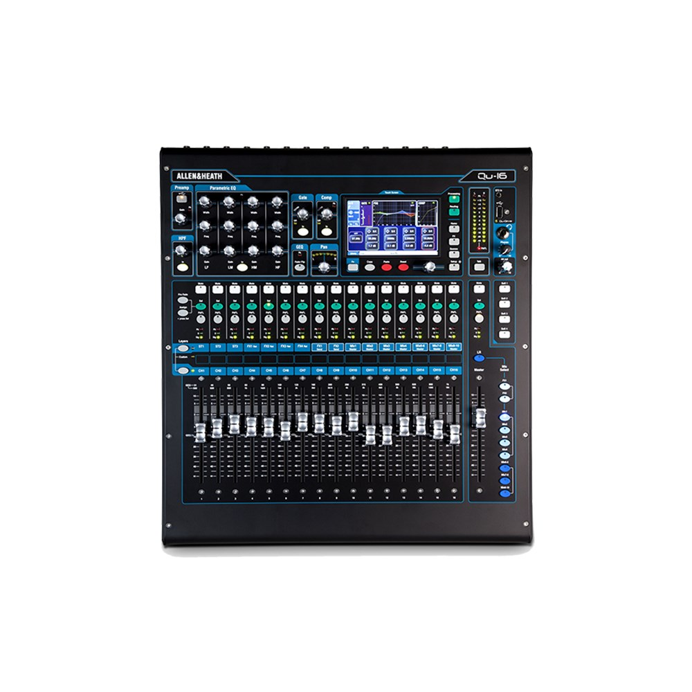 allen heath qu16 22 in 12 out digital mixer w bonus decksaver cover digital studio mixers. Black Bedroom Furniture Sets. Home Design Ideas