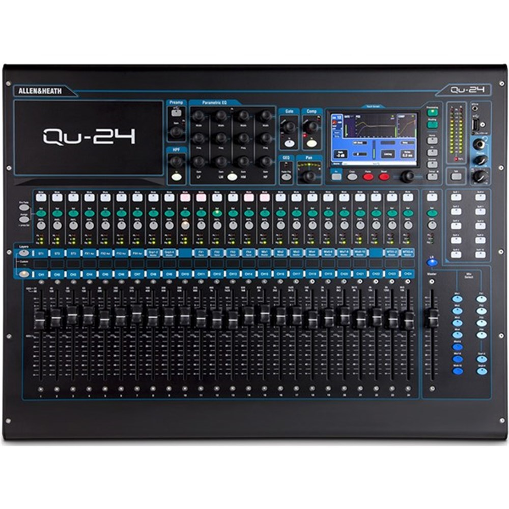 allen heath qu24 30 in 24 out digital mixer digital studio mixers store dj. Black Bedroom Furniture Sets. Home Design Ideas