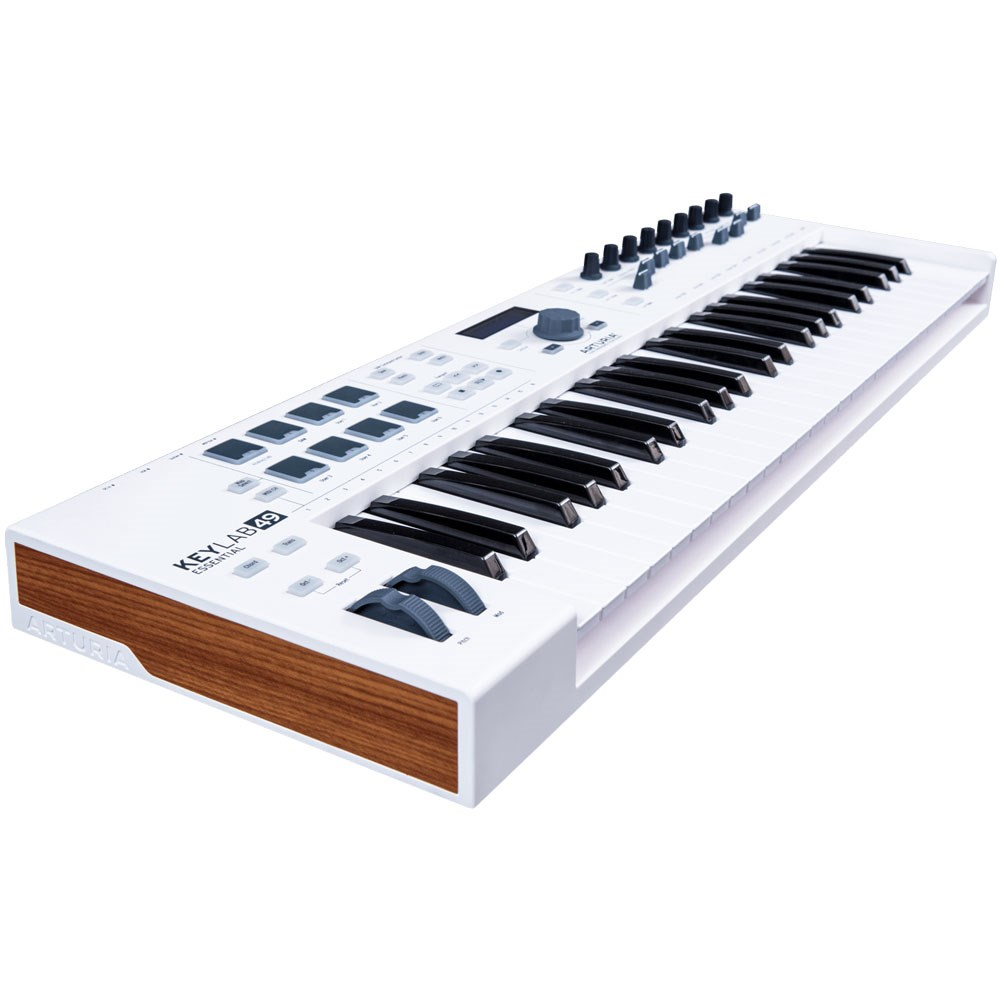 arturia keylab essential 49 usb midi controller keyboard white midi keyboards store dj. Black Bedroom Furniture Sets. Home Design Ideas