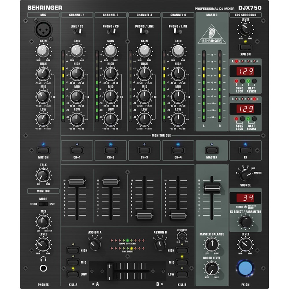 behringer djx750 dj mixer w fx dj mixers store dj. Black Bedroom Furniture Sets. Home Design Ideas