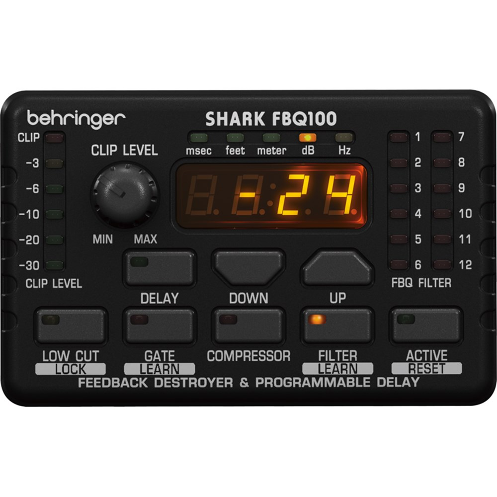 behringer shark fbq100 automatic feedback destroyer feedback reduction store dj. Black Bedroom Furniture Sets. Home Design Ideas