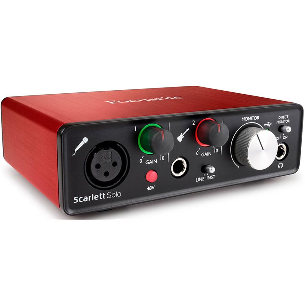 focusrite scarlett solo usb audio interface w pro tools ableton live generation 2 usb. Black Bedroom Furniture Sets. Home Design Ideas