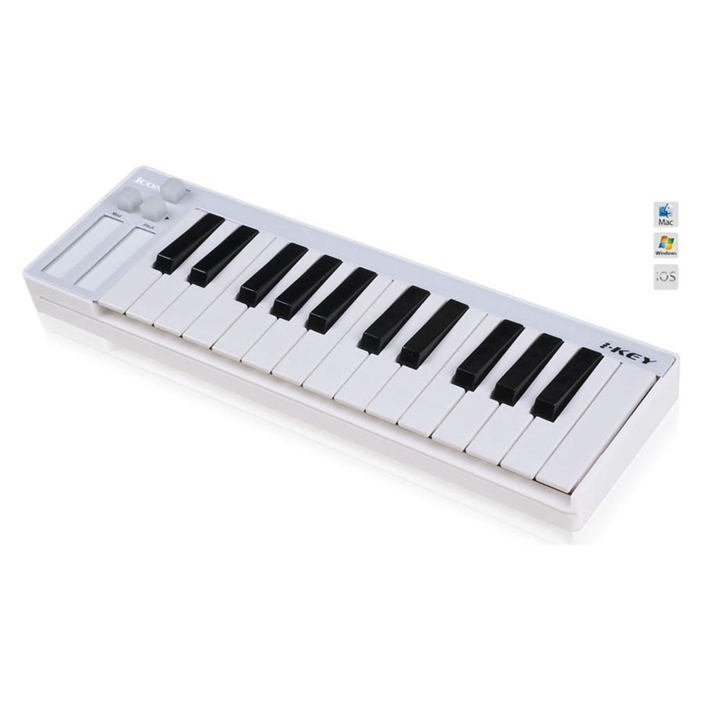 icon ikey compact 25 key velocity sensitive keyboard white midi keyboards store dj. Black Bedroom Furniture Sets. Home Design Ideas