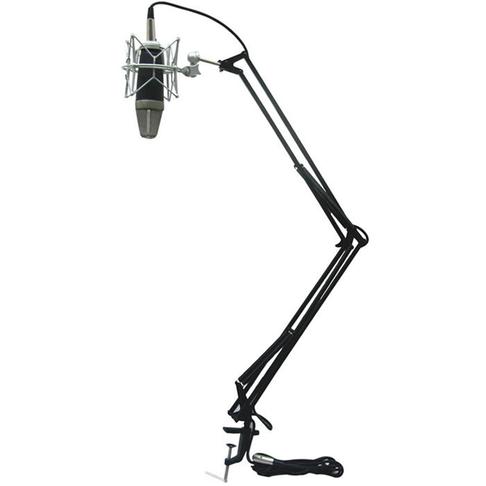 Icon Mb 03 Desk Mount Scissor Style Microphone Stand