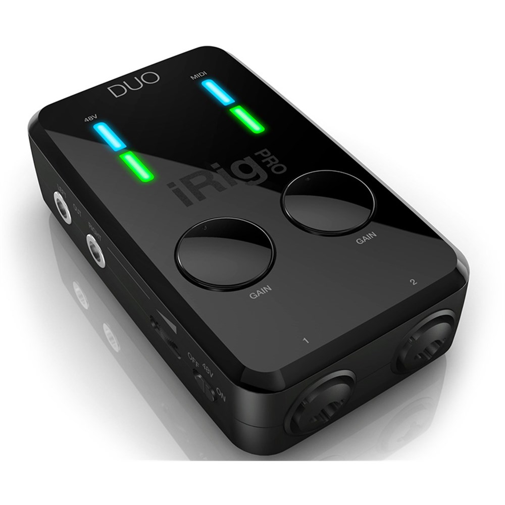 ik multimedia irig pro duo audio midi interface for ios