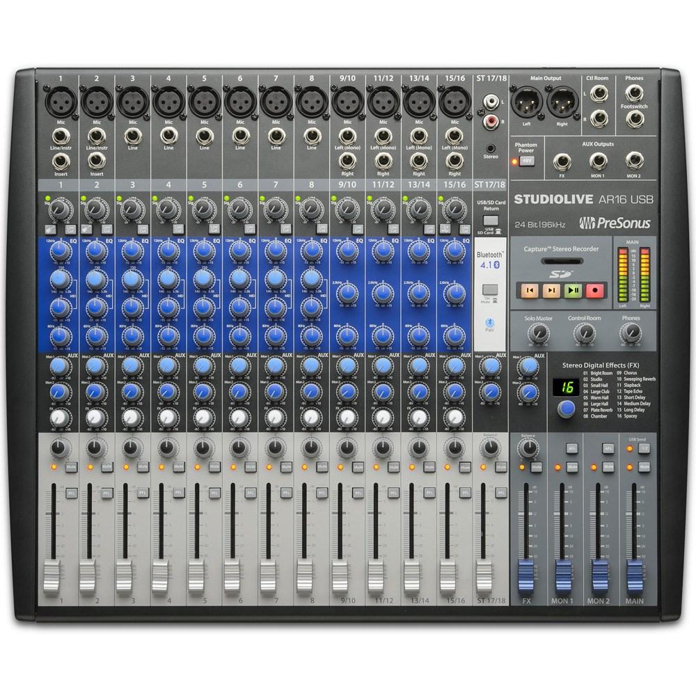 Presonus Studiolive Ar16 Usb 16 Channel Hybrid Multi Track Modular Audio Mixer With Multiple Input Channels