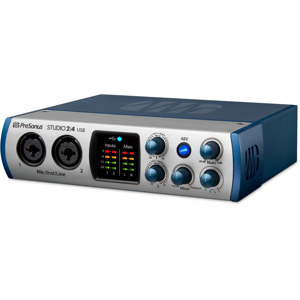 Presonus Studio 2 4 2x Mic Preamp Audio Midi Interface W S1 The Preamplifier With Dual Recording